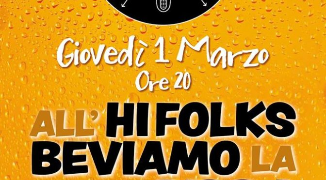 All'HI Folks! Beviamo La Birra Prodotta Il 14/12/2017